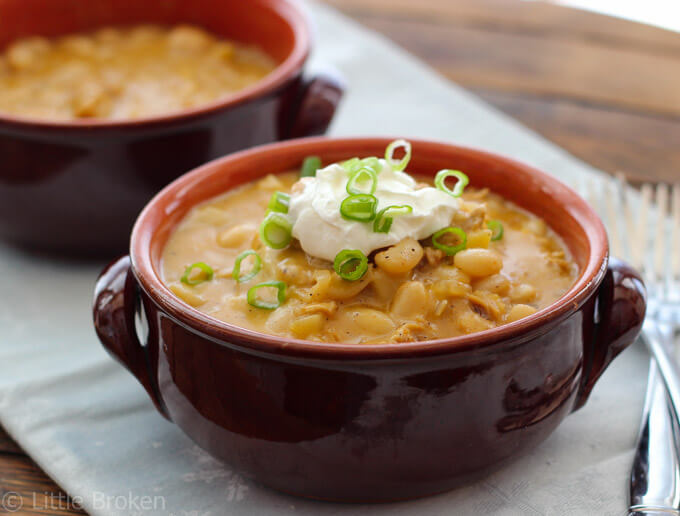 White Chicken Chili with Apples