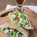 Greek Chicken Salad Pita Pockets