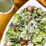 Avocado and Shrimp Chopped Salad with Creamy Cilantro Dressing