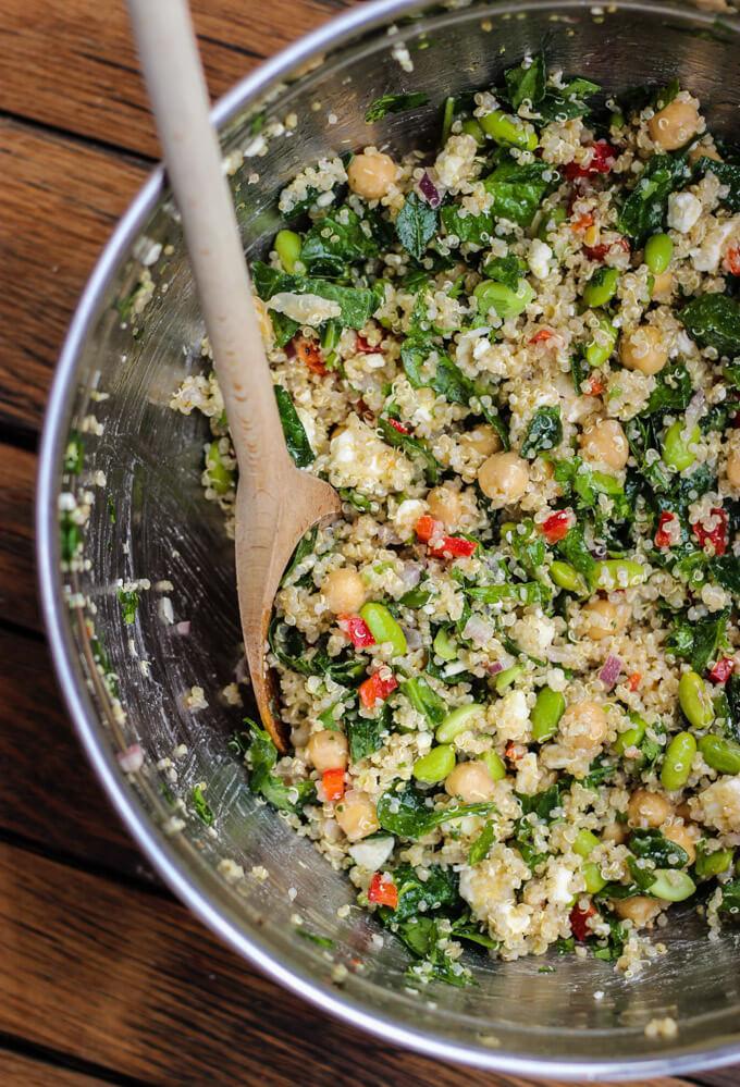 Edamame and Spinach Quinoa