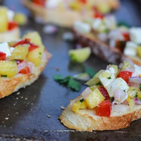 Pineapple Bruschetta