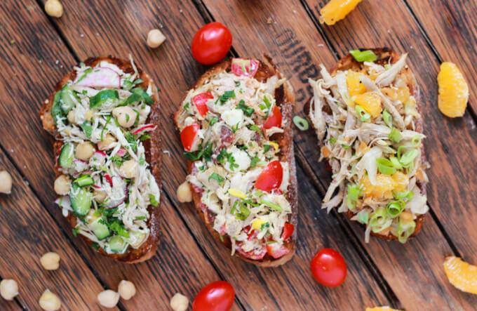Chicken Salad 3 Different Ways www.littlebroken.com