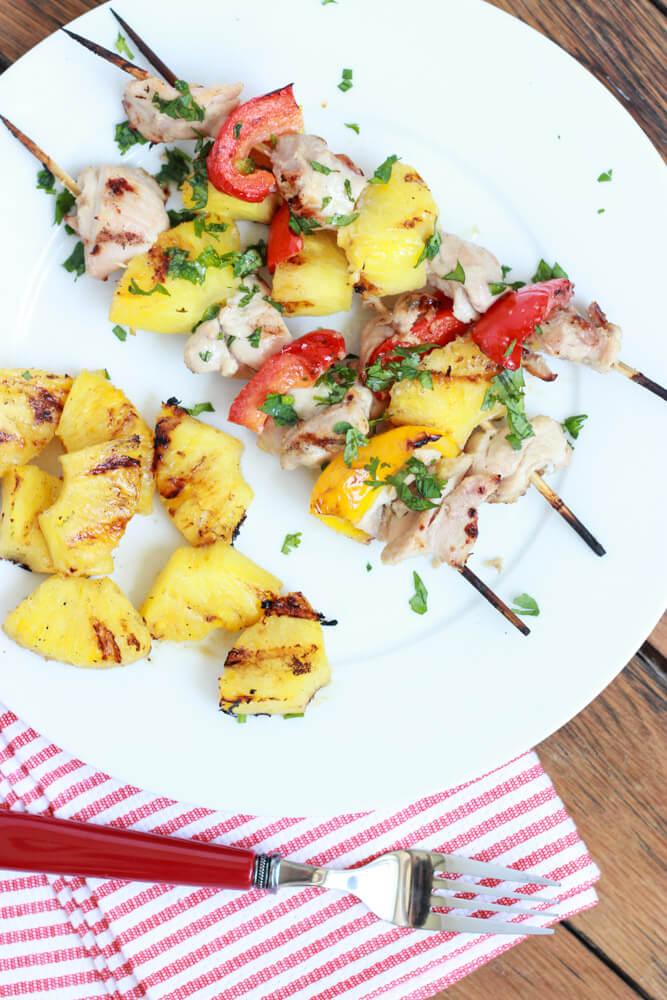 Coconut-Pineapple Chicken Kebabs littlebroken.com