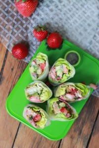 ... with Strawberry-Avocado Salsa and Creamy Almond Butter Dipping Sauce