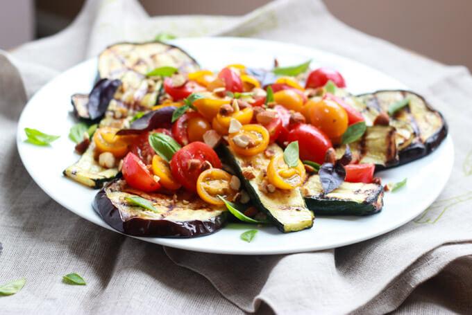Grilled Summer Salad with Greek Vinaigrette_littlebroken