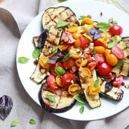 Grilled Summer Salad with Greek Vinaigrette