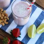 Strawberry, Coconut & Lime Smoothie littlebroken.com