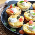 Baked Caprese Breakfast Cups