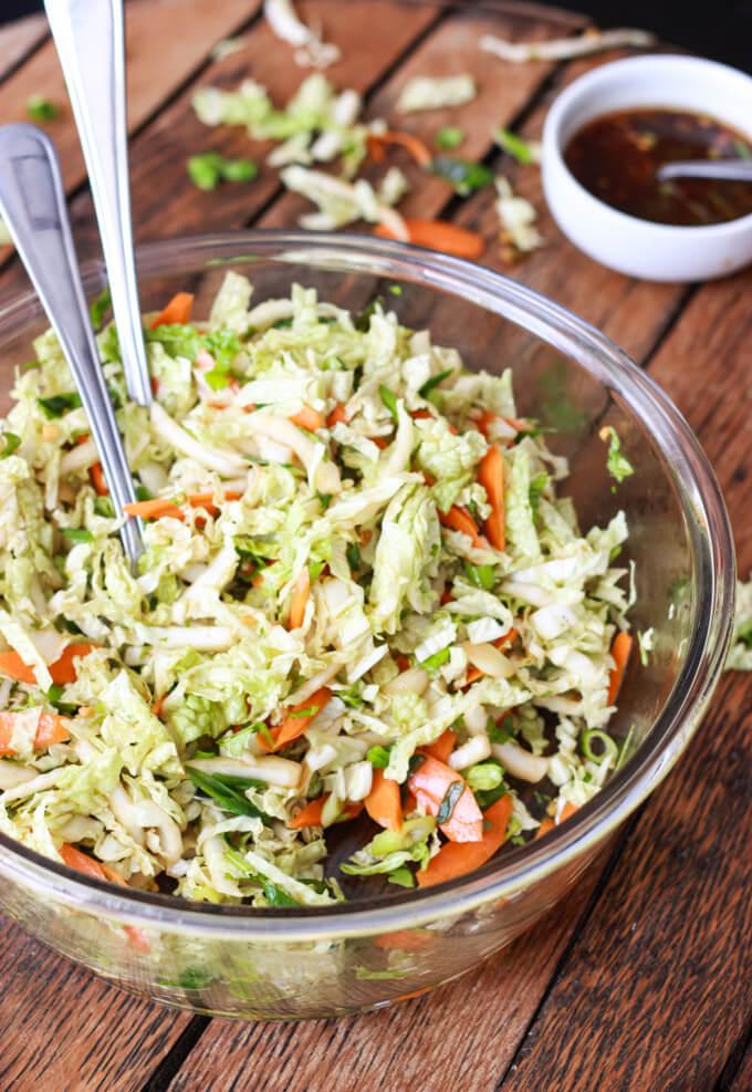 Ginger Sesame Chicken Salad | littlebroken.com @littlebroken