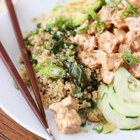 Quinoa Spicy Tuna Sushi Bowl