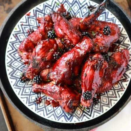 Sriracha Blackberry BBQ Wings
