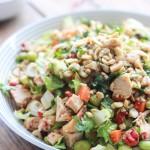 Chopped Thai Chicken Salad with Peanut-Chili Vinaigrette