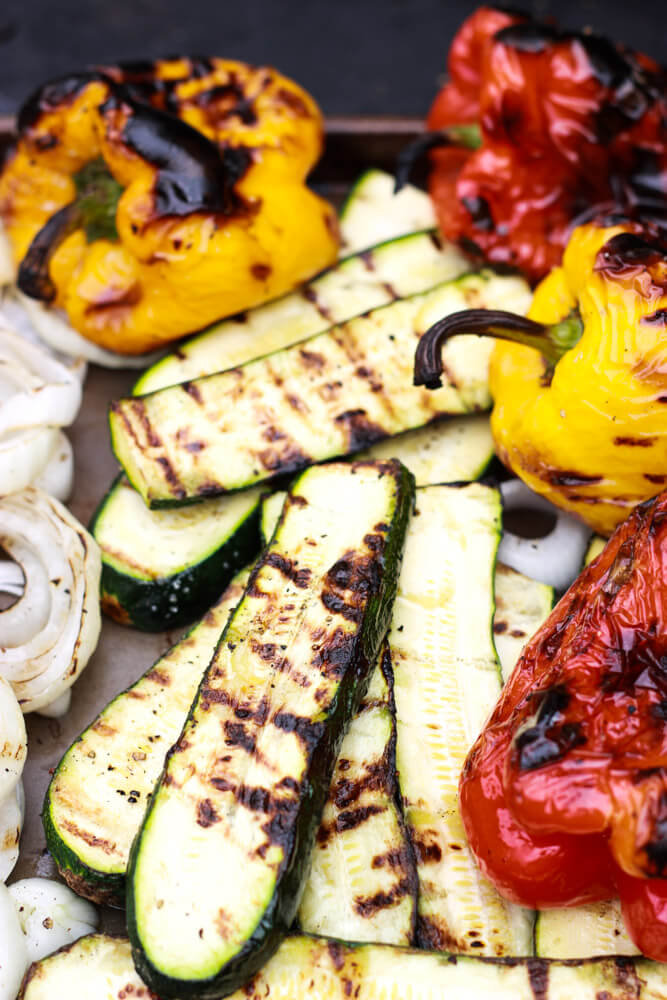 Zucchini and Eggplant Bake with Goat Cheese and Herbs - healthy side to any dish. Omit cheese for paleo or vegan | littlebroken.com @littlebroken