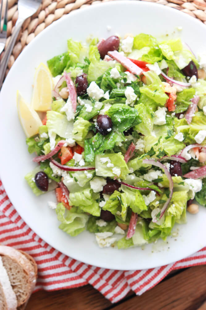 Greek Italian Chopped Salad - antipasto platter but in a salad form ...