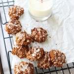 Pumpkin Pecan Cookies with Orange Glaze