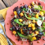 Roasted Butternut Squash and Pear Salad with Spiced-Pecans
