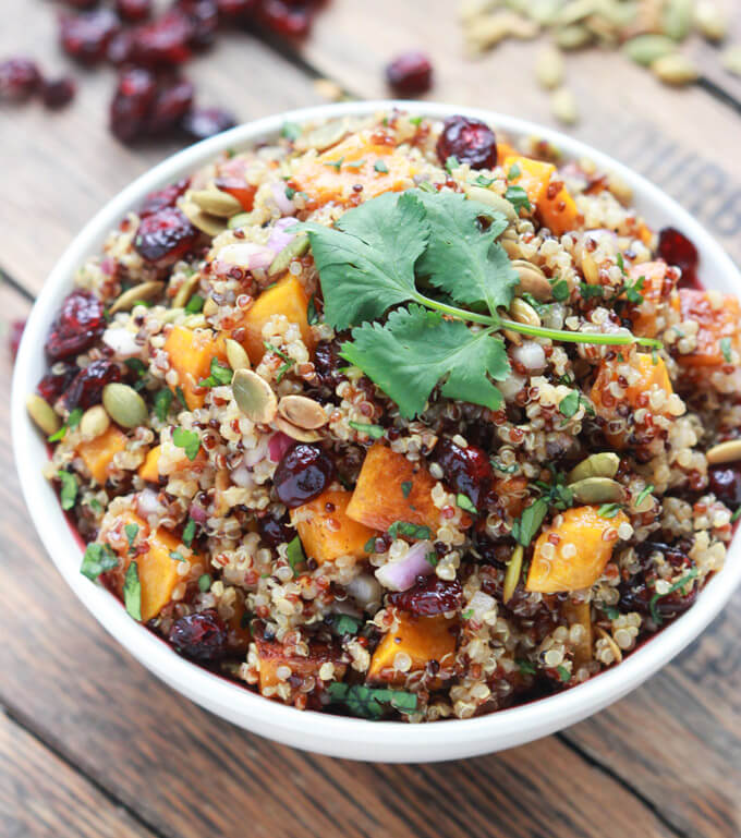 Butternut squash and cranberry quinoa salad little broken butternut squash and cranberry quinoa salad forumfinder Images