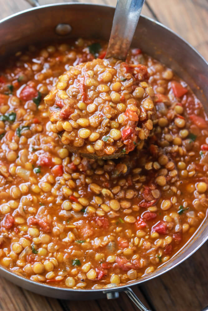 and chunky lentil chili much healthier than your traditional chili ...