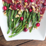 Thanksgiving Countdown: Asparagus with Cranberry Honey Vinaigrette
