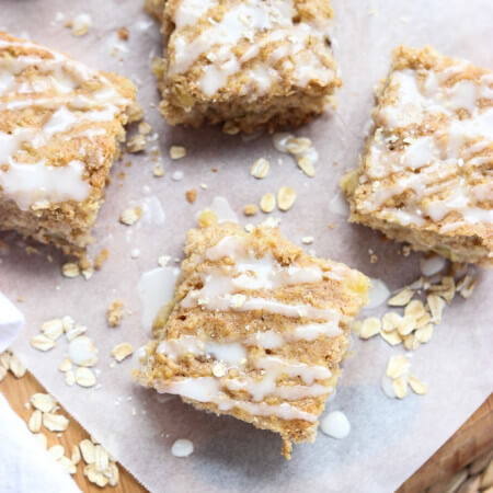 Yummy breakfast bars without the guilt! Bananas, pineapple, oats, and whole wheat flour | littlebroken.com @littlebroken