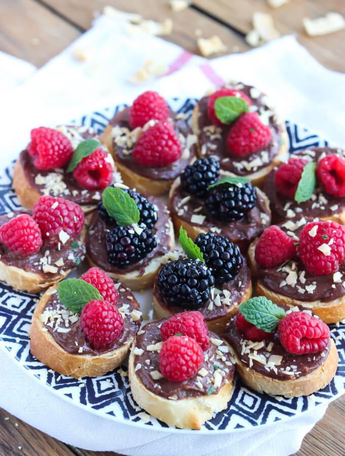 Quick and easy dessert with chocolate, fresh fruit and coconut chips! | littlebroken.com @littlebroken