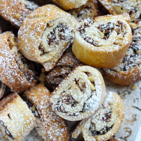 Day 10 of 12 Days of Cookies: flaky pastry dough with healthy greek yogurt, filled with Calimyrna figs and walnuts are super GOOD. Ultimate holiday pleaser. | littlebroken.com @littlebroken