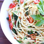 30-Minute Pasta with Spinach and Fresh Tomatoes