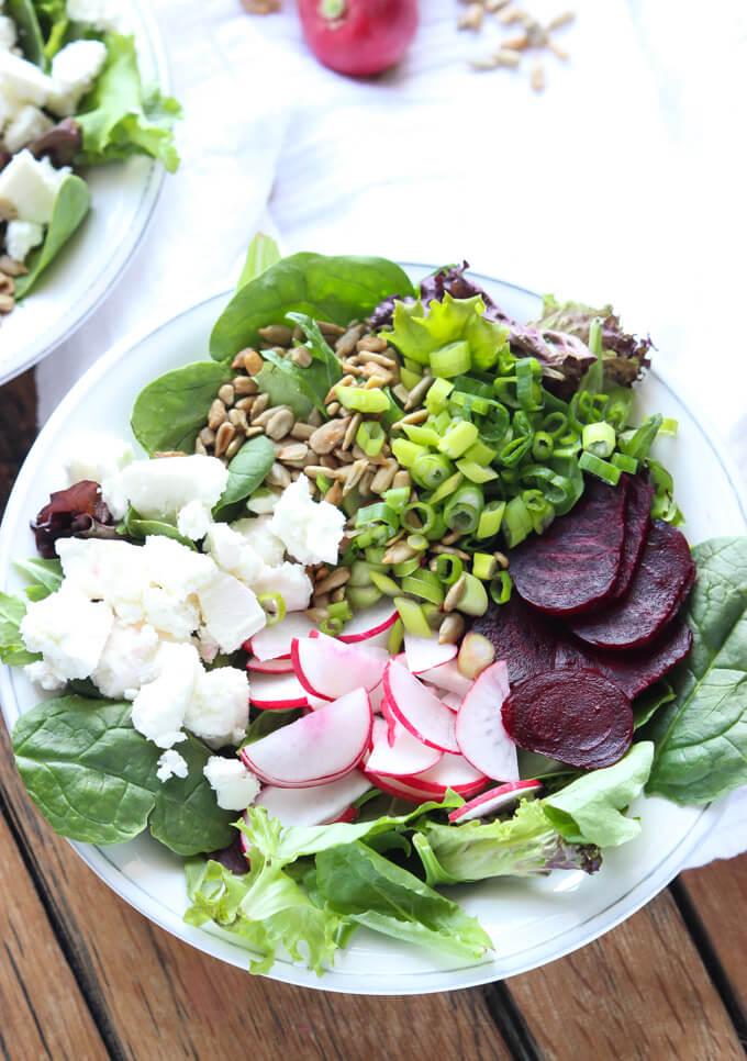 Healthy and quick side salad with clean and simple ingredients | littlebroken.com @littlebroken