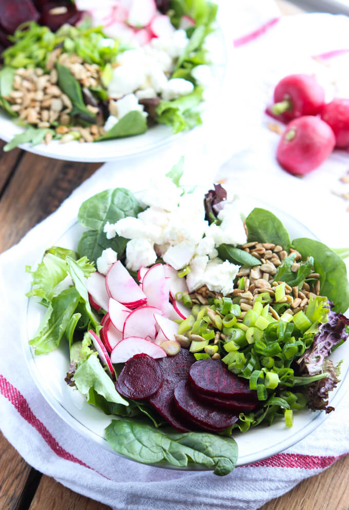 Beet and Feta Salad with Sunflower Vinaigrette | Little Broken
