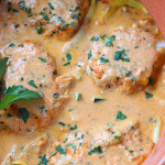 Cod in Creamy Red Roasted Pepper Sauce