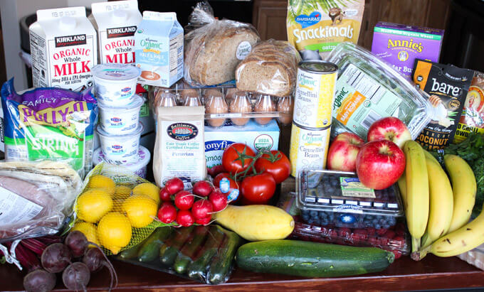 7 Tips for Clean Eating Grocery Shopping + Look Inside My