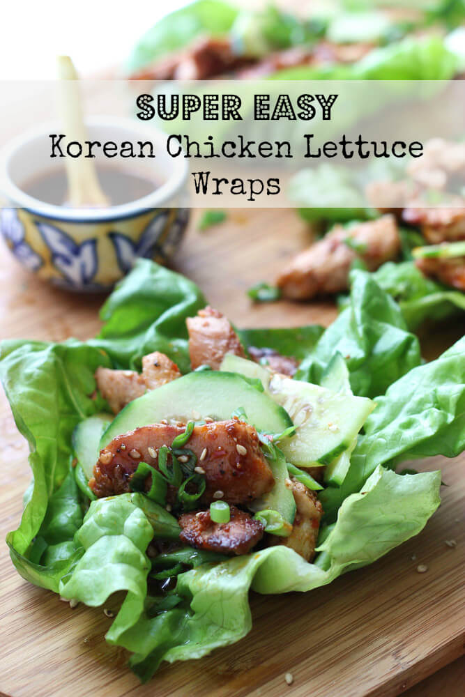 Easy and quick 30 minute chicken lettuce wraps with chicken and ...