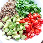 Avocado, Tomato, and Spinach Quinoa Salad