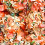 Baked Caprese Chicken Meatballs