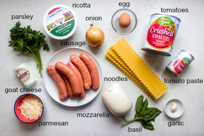 ingredients for turkey lasagna recipe