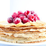 Made with healthy coconut oil and no refined sugars these crepes are light, airy, and absolutely the BEST! | littlebroken.com @littlebroken
