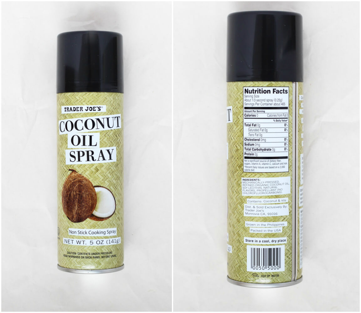 List of BEST products to buy at Trader Joe's - Coconut Oil Spray | littlebroken.com @littlebroken