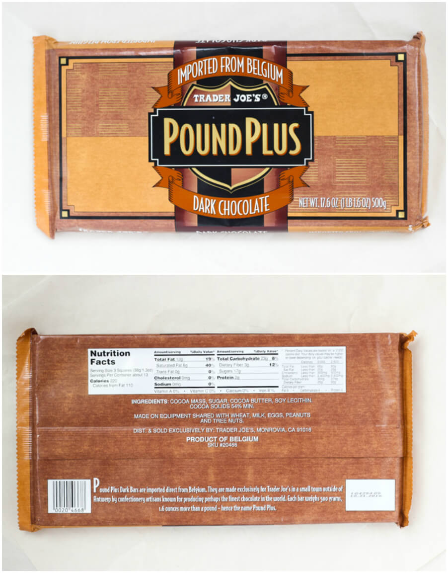 BEST products to buy at Trader Joe's - Pound Plus Dark Chocolate | littlebroken.com @littlebroken