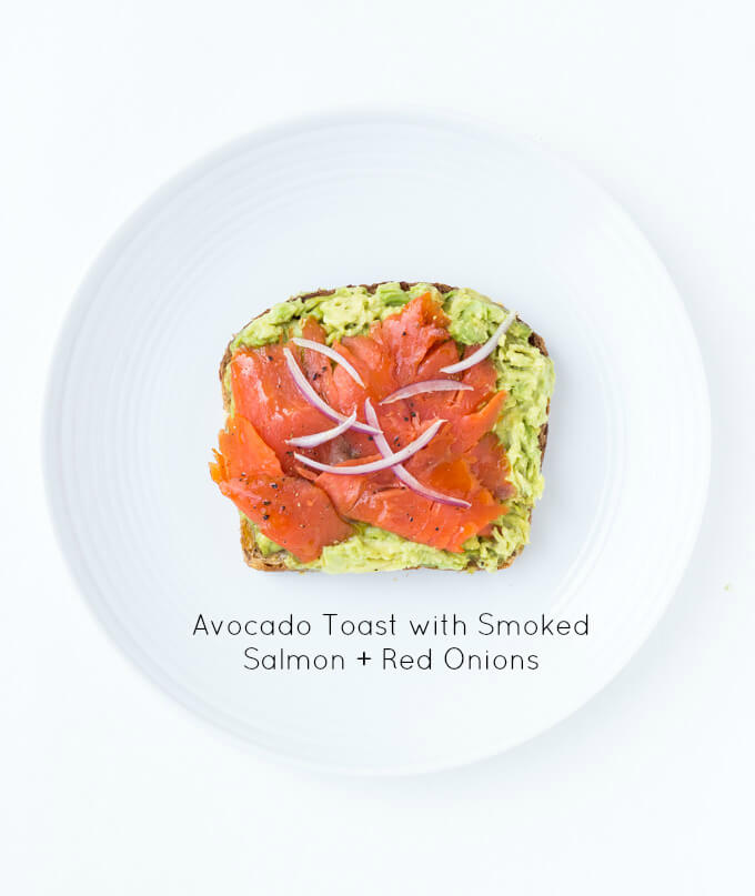 Easy and quick smoked salmon avocado toast. Click on picture to check out more ways to top an avocado toast all with fresh ingredients   littlebroken.com @littlebroken