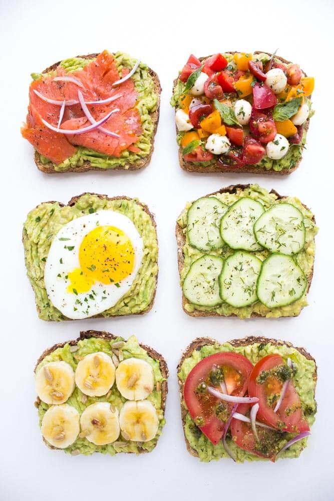 ways to top an avocado toast all with fresh ingredients for breakfast ...