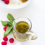 Raspberry Basil Garlic Vinaigrette