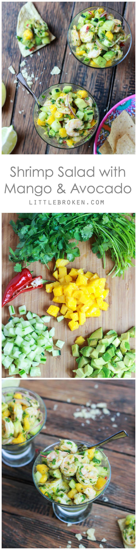 Delicious salad with fresh sweet mango, crispy cucumber, and creamy avocado   littlebroken.com @littlebroken