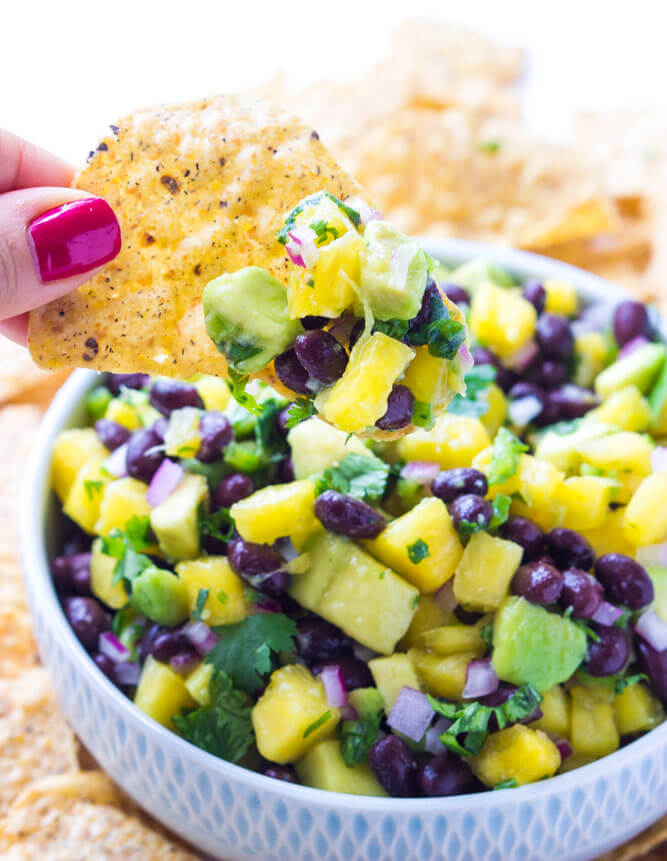 Pineapple, Avocado and Bean Salsa | Little Broken