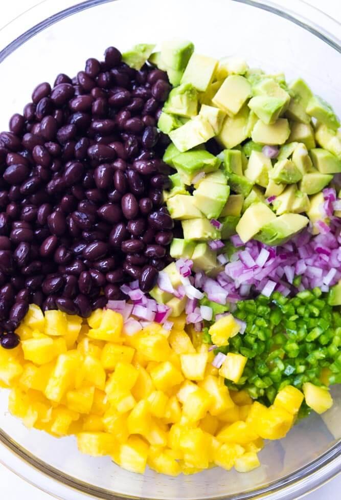pineapple black bean salad