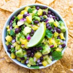Fresh sweet chunks of pineapple combined with black beans and creamy avocado to make this over the top delicious salsa | littlebroken.com @littlebroken.com