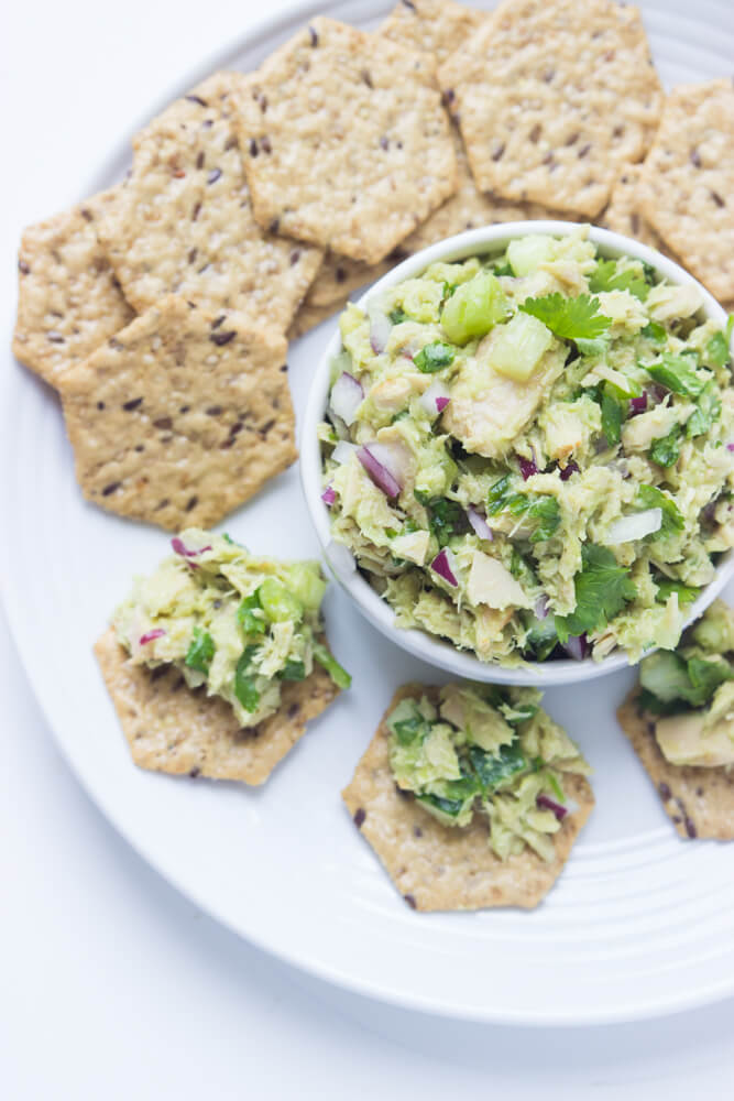 Healthy avocado tuna salad 3 ways to eat it little broken for Tuna fish salad recipe with egg