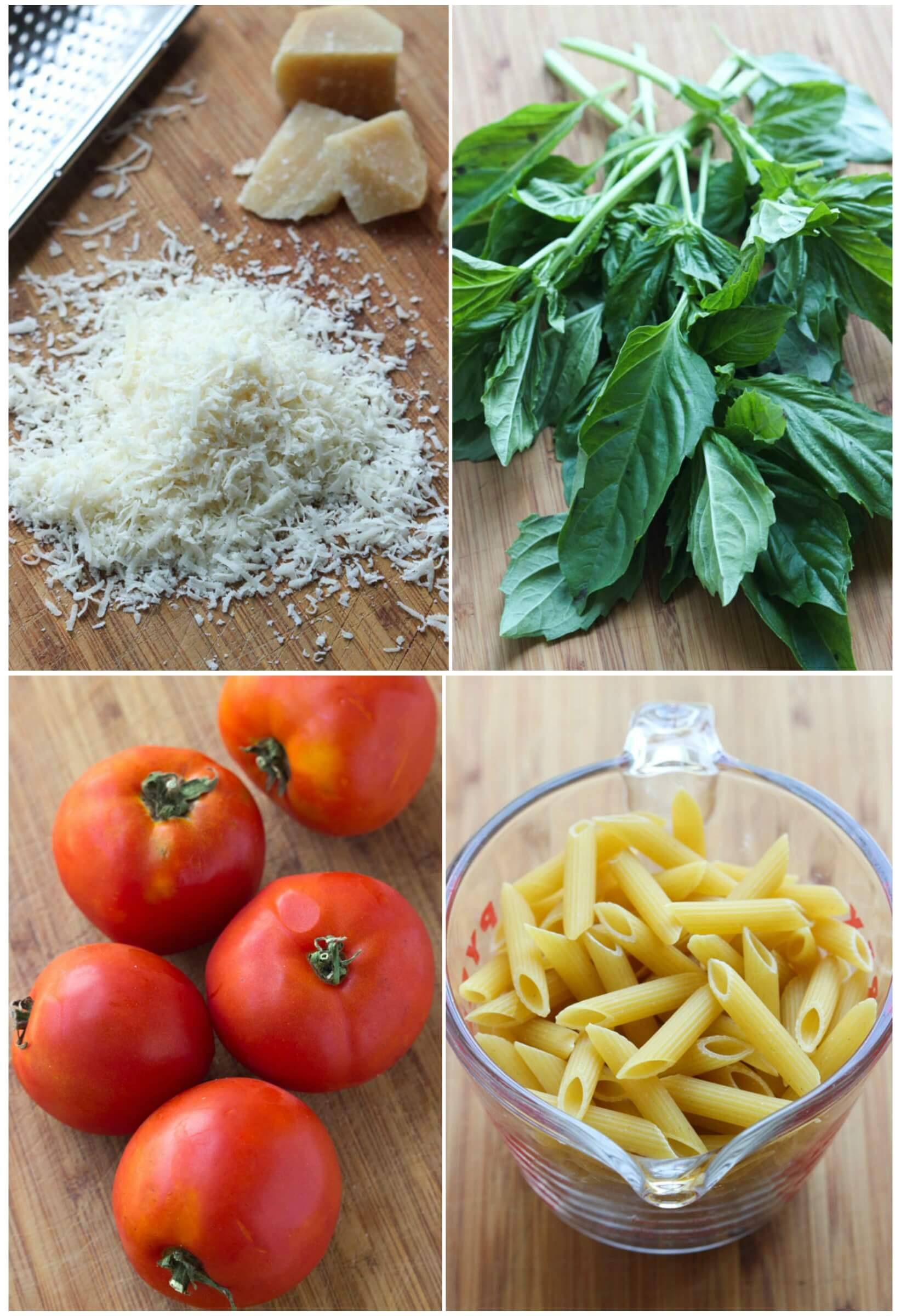 30 minute pasta made with simple, clean ingredients. Inspired by Margherita Pizza | littlebroken.com @littlebroken