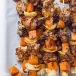 Spicy-Honey Glazed Chicken and Sweet Potato Kebabs