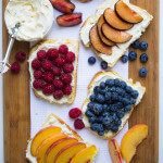 Breakfast Fruit Toast with Honey-Vanilla Mascarpone Ricotta Spread