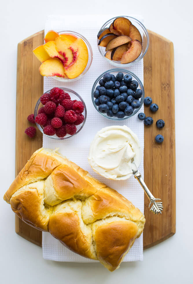 Breakfast Fruit Toast With Honey Vanilla Mascarpone